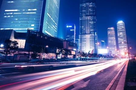 Shanghai Skyline at night Stock Photo - 17554445