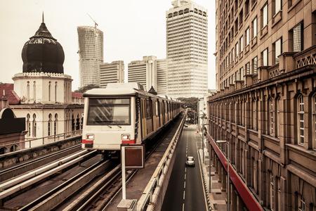 kuala lumpur: Metro Train in Kuala Lumpur Malaysia