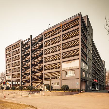 Multi storey indoor parking building photo