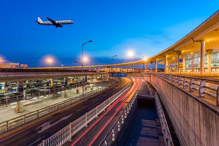International Airport Terminal T3 night in Beijing