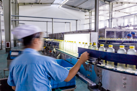 food drink industry: drinks production plant in China Stock Photo