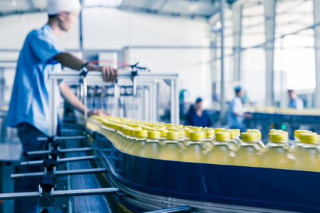 factory automation: drinks production plant in China Stock Photo