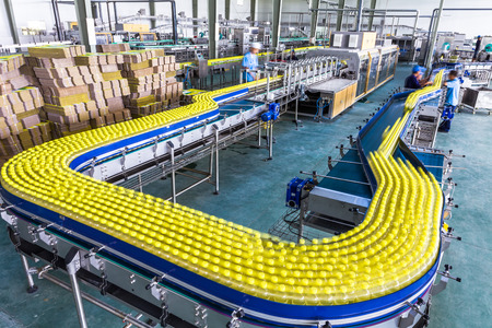 drinks production plant in China Standard-Bild