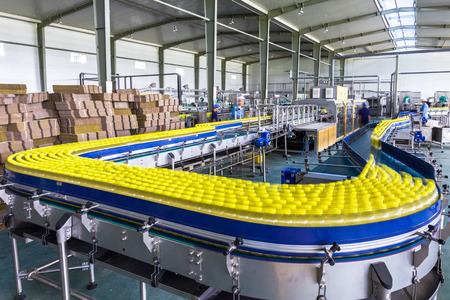 drinks production plant in China Banco de Imagens