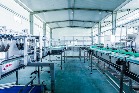 assembly line: drinks production plant in China Stock Photo