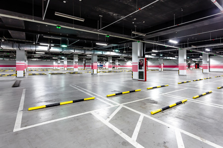 empty underground parking