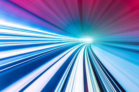 highspeed: Abstract train moving in tunnel