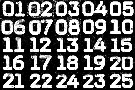 textural: Collage of textural numbers Stock Photo
