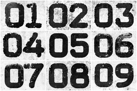 Collage of textural numbers photo