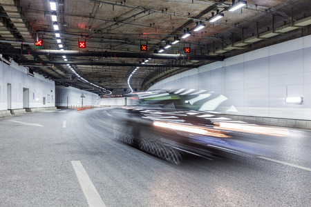 Interior of an urban tunnel photo