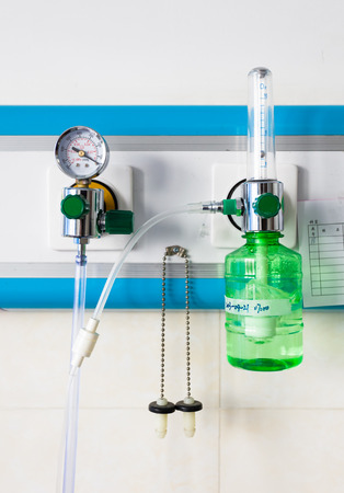 compressed: Oxygen in the hospital Stock Photo