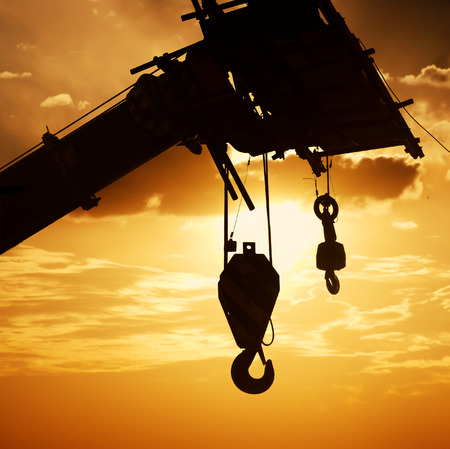 pulley: The crane hook silhouette