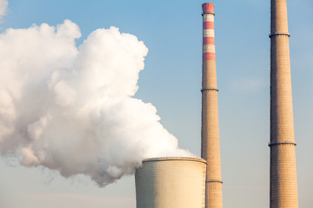 coal fired: Chimney of power plant