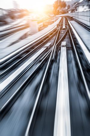 bright future: City Metro Rail,motion blur