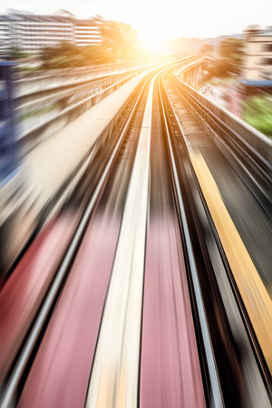 City Metro Rail,motion blur photo
