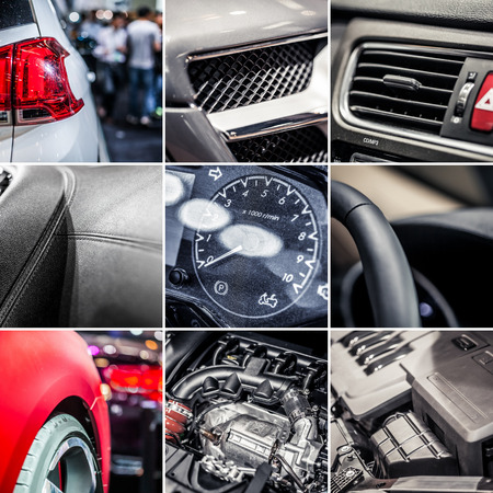 Car details collage photo