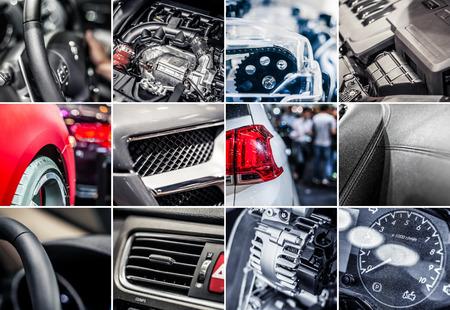 Car details collage Stockfoto