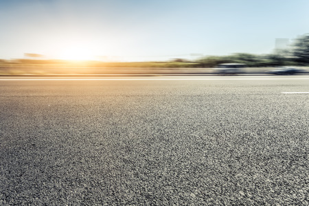 clean street: motion blur of the road