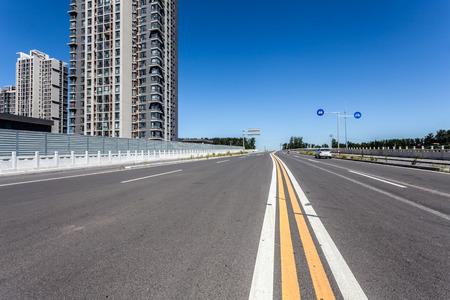 clean street: city road Stock Photo