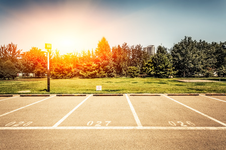 parking lot: empty parking lot