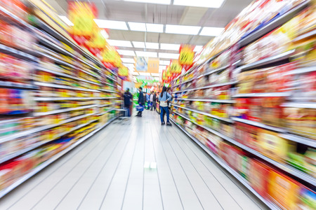 isles: supermarket aisle,motion blur