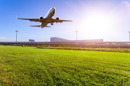 landing light: airport in Beijing china