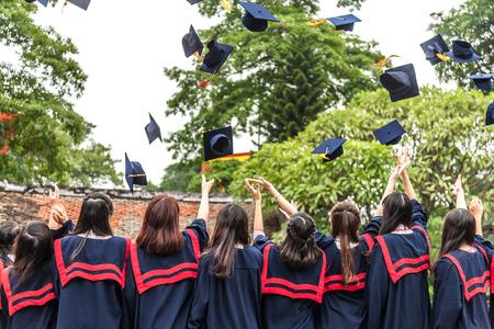 colegios: La ceremonia de graduaci�n Foto de archivo