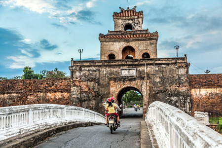 vietnam culture: The palace gate, Imperial Palace moat, Vietnam