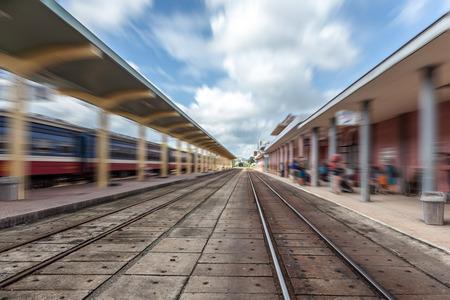 hues: Vietnam Hues railway station Stock Photo