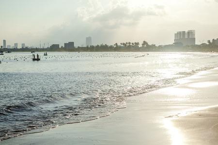 nang: Sunset coast line, Da Nang Stock Photo