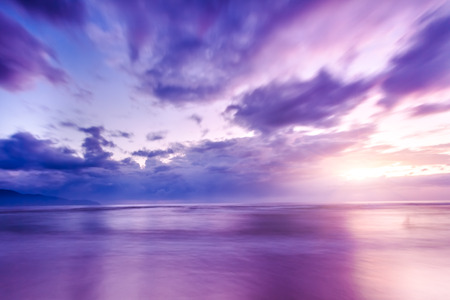The sunrise and the sea Stockfoto