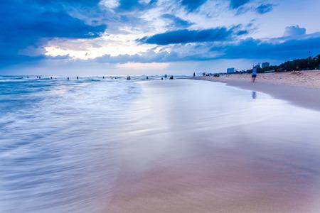 The sunrise and the sea Stock Photo
