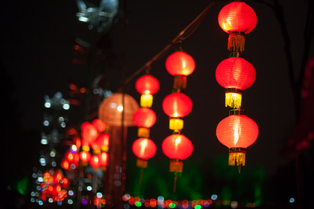 chinese lanterns: Exhibit of lanterns during the Lantern Festival