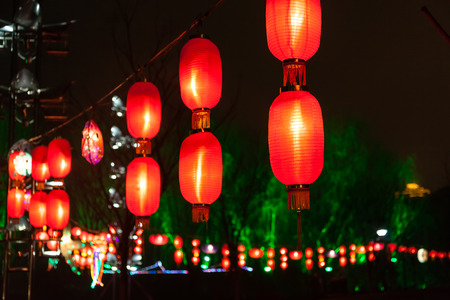Exhibit of lanterns during the Lantern Festival