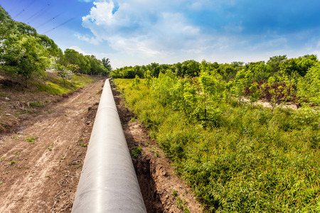 bomba de agua: la tubería del petróleo Foto de archivo