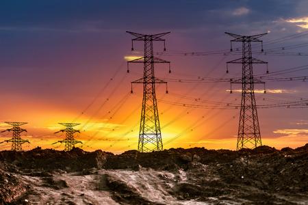 GLOD: high voltage post.High-voltage tower sky background