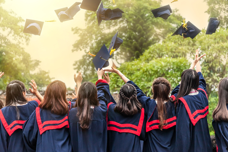 toga graduacion: La ceremonia de graduación Foto de archivo