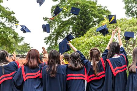 Ceremonia zakończenia studiów Zdjęcie Seryjne