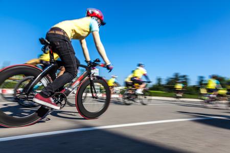 rival rivals rivalry season: Racing Bike,Motion blurred