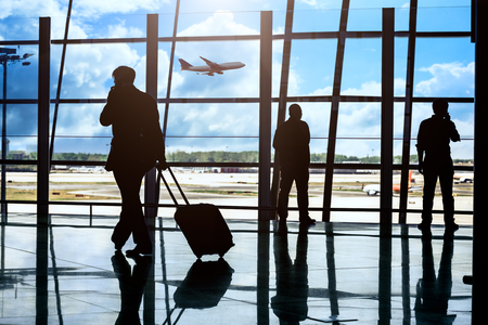 terminal: passenger In the Beijing airport