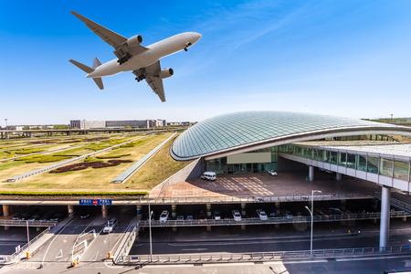 aeroplanes: airport in Beijing china