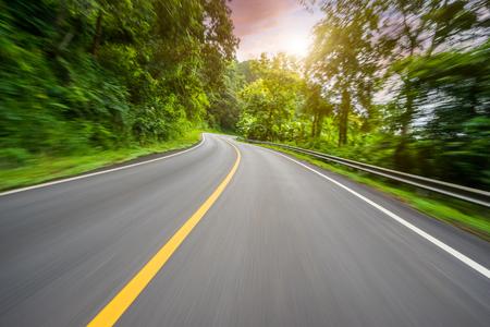 Motion blurred highway Banco de Imagens
