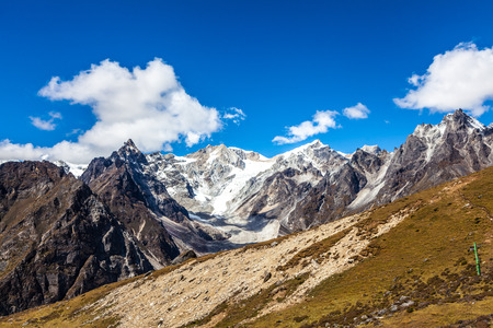 snow mountains in Himalaya of Tibet