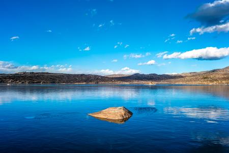 lake and stone mountain in China Stockfoto