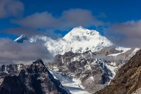 Everest mountains in Himalaya of Tibet
