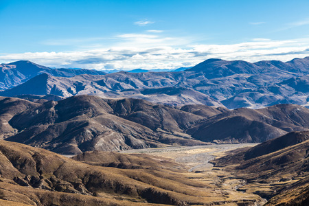 mountains in Himalaya of Tibet Stock Photo