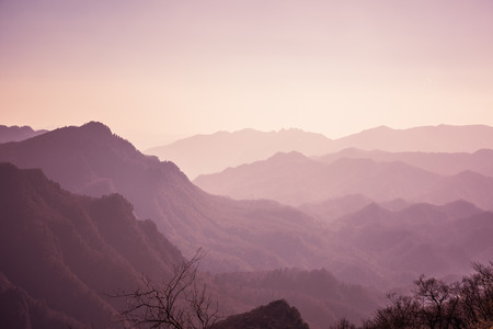 mountains in sunset in China