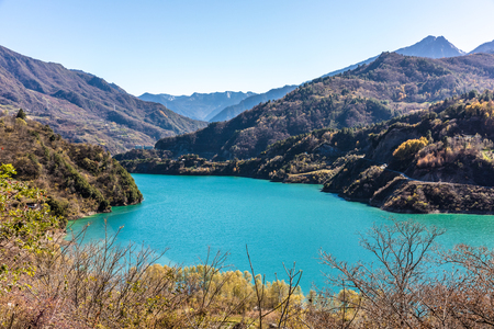 blue lake in Sichuan China Reklamní fotografie