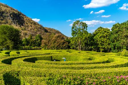 maze under blue sky in Thailand