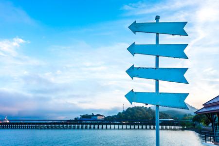 arrow in coastline of China Reklamní fotografie - 123027450